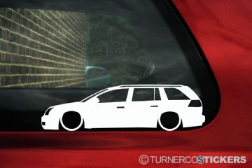 2x LOW Vauxhall / Opel Vectra C (2002-2005 ) pre-facelift estate Wagon silhouette stickers, Decals
